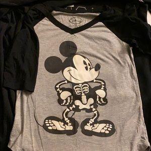 Disney Mickey Mouse skeleton raglan shirt